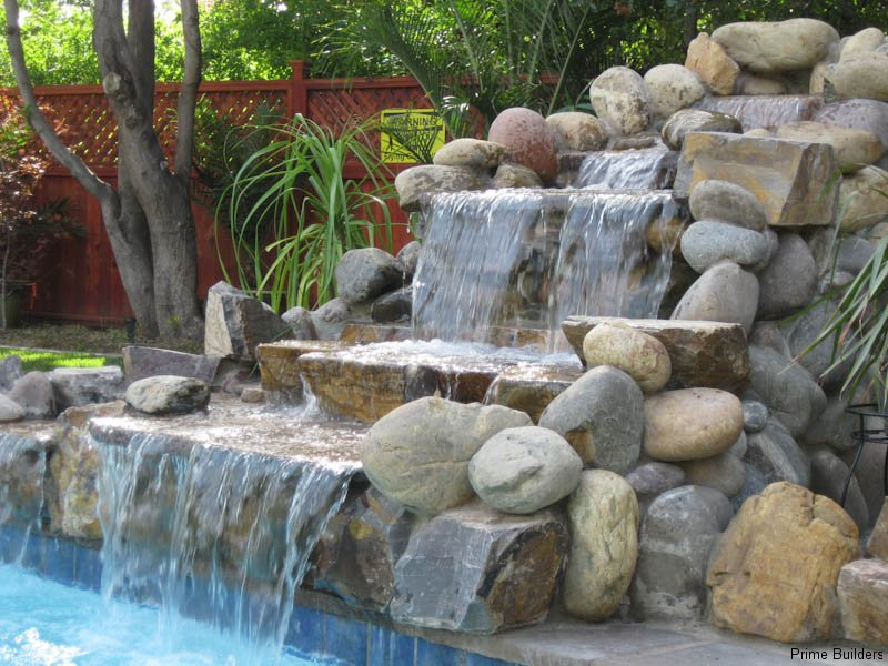 Water Features Are Our Specialty! We Build Custom Waterfalls, Fountains,  Koi Ponds, Grottoes, And Rock Slides For Swimming Pools.These Structures  Are All ...